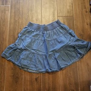 Old Navy ▪Tiered ruffle 100% cotton denim skirt